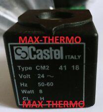 CASTEL CM2 9110/RA2 SOLENOID VALVE COIL 24 volt cable 1000mm + Assembly kit