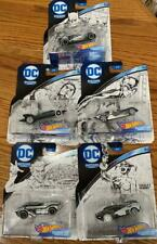 Hot Wheels DC SKETCHED SERIES Set Of 5 Batman Superman Joker Harley Catwoman NEW