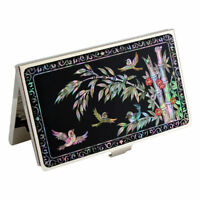 MOP Bamboo Design Metal Black Business Credit ID Name Card Case Holder Wallet