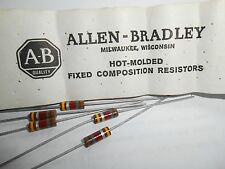 1.8K Ohm 1/2 Watt 10% Allen Bradley Composition Resistor 5 Pieces  OEM PARTS!!
