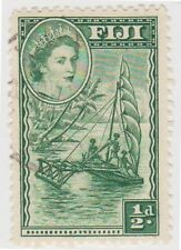Stamp (F42)Fiji 1957 1/2d Green Fine used ow280