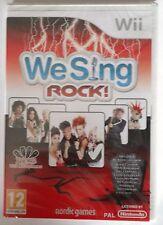 WE SING ROCK Wii KARAOKE SINGING SOLUS GAME brand new & sealed UK original !
