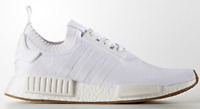 Adidas NMD R1 PK Gum Pack Triple White Primeknit Men's Trainers BY1888 (PTI)
