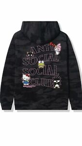 Hello Kitty and Friends x ASSC ANTI SOCIAL SOCIAL CLUB /Black Hoodie Large