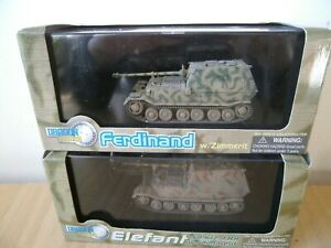German 2 tanks 1/72  Dragon Armor Elefant 60053 & Ferdinand 60124