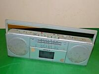 SONY STEREO RADIO Portable CASSETTE BOOMBOX CFS-2000L SILVER FAULTY SPARES
