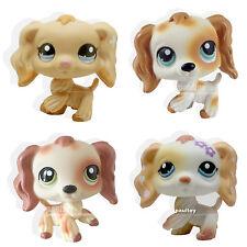 4x Rare Littlest Pet Shop Cocker Spaniel Puppy Dog Dipped LPS #1716 #344 #1615 .