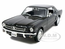 1964 FORD MUSTANG HARD TOP BLACK 1/24 DIECAST MODEL CAR BY WELLY 22451