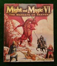 MIGHT AND MAGIC VI: THE MANDATE OF HEAVEN BIG BOX CD ROM COMPLETE NEW WORLD COMP