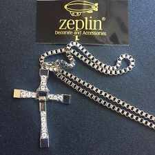 Dominic Toretto's CROSS Pendant The Fast and Furious Chain Necklace Vin Diesel