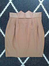 H&M Tendance Beige COS Nude Gros-grain Ribbon Origami taille haute mini jupe 34 6 8