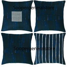 """Cushion Covers Pillow Cases Blue crochet Ikea 100% Cotton 50 x 50cm / 20 x 20"""""""