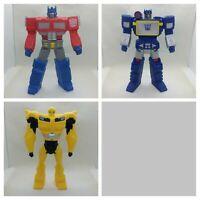 LOT of 3 Transformers G1 TITAN GUARDIAN Vinyl BUMBLEBEE Optimus Prime SOUNDWAVE
