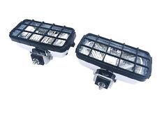 2x Fernscheinwerfer Schutzgitter Universal 195x95x88 Chrom Zusatzscheinwerfer