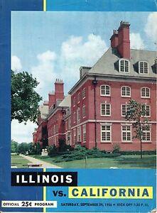 1956 (Sep. 29) College Football program, California Bears @ Illinois Illini ~ Fr
