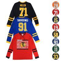 "NHL ""Shootout"" Mass Hockey Long Sleeve Player Jersey T-Shirt Collection Men's"