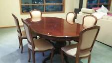 Dining setting 8 upholstered chairs