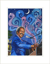 Allen Toussaint, piano, Southern Nights, art print, Jane Brewster, New Orleans
