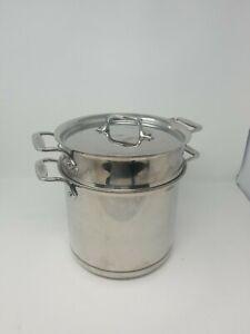 All-Clad Copper Core 7QT Stock Pot with Pasta Pentola Insert & Lid