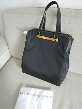 SAC MARC BY MARC JACOBS TRAPEZE GOODBYE COLUMBUS CUIR/TOILE NOIR