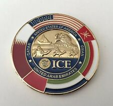 US ICE HOME LAND SECURITY CUSTOMS ARAB EMIRATES OMAN DUBAI POLICE CHALLENGE COIN