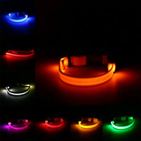 USB Rechargeable LED Dog Pet Collar Flashing Luminous Adjustable Safety Light