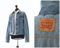 Vintage Women's LEVIS Trucker Jeans Denim Jacket Blue Size L