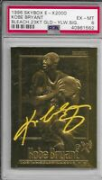 1996 Skybox Kobe Bryant 23 Karat Gold Yellow Sig PSA Ex - Mint LA Lakers NBA