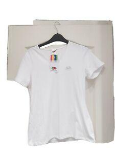 BNWWomens Fruit of the Loom Plain Cotton Ladies Fit V Vee Neck T-Shirt size M