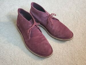 Cole Haan Men's Suede Chukka Boots - Maroon Size 11