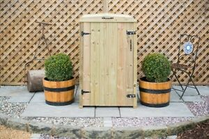 Single 240L Wheelie Bin Wooden Screen Storage Chest FSC Timber Handmade in UK