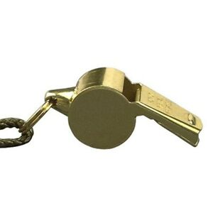 Brass Police Whistle with Neck Lanyard