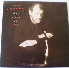 "JOE COCKER LP - 1989 - ""ONE NIGHT OF SIN"" - LIBERATION AUSTRALIA"