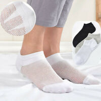 3-6 Pairs Mens Cotton Thin Mesh No Show Loafer Boat Low Cut Soft Ankle Socks7-10