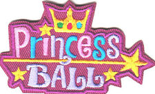 """""""PRINCESS BALL"""" - IRON ON EMBROIDERED PATCH - DANCE - CROWN - EVENT"""