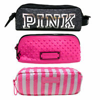Victoria's Secret Makeup Bag Pouch Cosmetic Pencil Case Pink Travel Vs New Nwot
