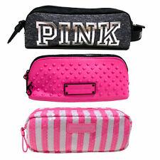 Victoria's Secret Makeup Bag Pencil Case Pouch Cosmetic Travel Pink Vs New Nwot
