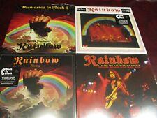 RAINBOW RITCHIE BLACKMORE'S RAINBOW + LIVE LIMITED EDITION BLACK VINYL 8 LP'S