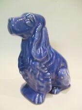 Blue Shawnee American Art Pottery Cocker Spaniel Dog Planter Vintage
