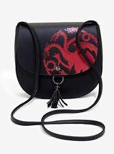 Game of Thrones Targaryen Dragon Faux Leather Tassel Crossbody Satchel Bag NWT