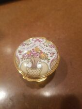 """Halcyon Days 1995 Mothers Day """"For Mother With Love"""" Trinket Box Lot 41"""