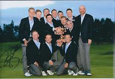 Paul McGINLEY SIGNED AUTOGRAPH Photo AFTAL COA Ryder Cup Golf Win Celebration