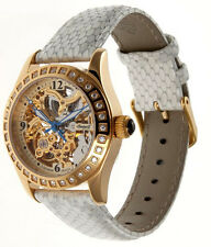 NEW Ingersoll IN7212GWH Women's Tempico Watch Analog White Band Gold Dial SS WR