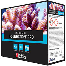 Red Sea Reef Foundation Pro Test Kit Ca KH Mg Saltwater Tests Free USA Shipping