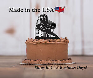Dump Truck, Cake Topper, Boy's Party, Construction Birthday, Keepsake - LT1104