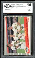 1989 Fleer Glossy #634 Mark Mcgwire / Jose Canseco Card BGS BCCG 10 Mint+