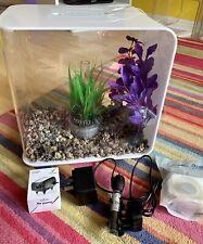 Biorb Flow 30L White Tropical Fish Tank Aquarium LED Light Pump Plants Cost £225