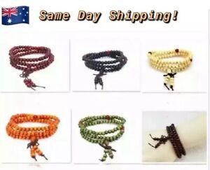 Tibetan Buddhist Hindu Meditation Prayer Beads 108 Mantra Count 7 Colour Options