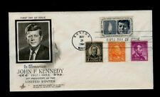 Scott# 1246 John Kennedy COMBO all Martyred Presidents Art Craft First Day Cover