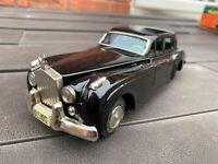Yonezawa Japan Tinplate Black Rolls Royce - Near Mint Vintage Original Rare